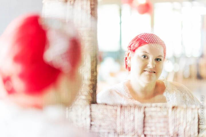 LeaLea in the mirror